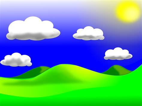 Sky Clipart Free Vector Graphic Landscape Sky Clouds Free