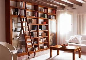 Bücherregal Mit Leiter : elegante b cherregal modular mit beweglichen leiter idfdesign ~ Watch28wear.com Haus und Dekorationen
