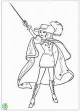 Coloring Three Musketeers Barbie Printable Template Popular sketch template