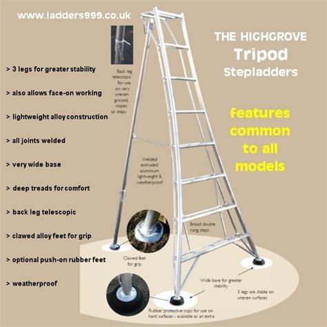 highgrove platform tripod ladders tripod steps for safer garden work hedge trimming and