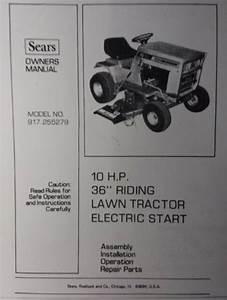 Sears Lt  10 Varidrive Lawn Tractor 917 255350  U0026 36 Mower