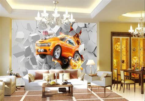 tapisserie chambre bebe fille 11 papier peint 3d personnalis233 voiture orange kirafes