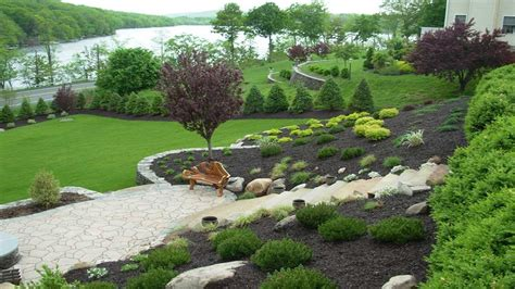 Landscaping Ideas For Small Sloping Backyards by Amazing Designing Gardens On Slopes Slope Landscaping