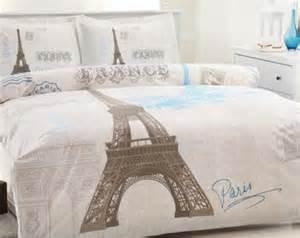 100 cotton queen twin paris eiffel tower duvet cover bedding