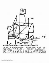 Armada Coloring Spanish Pages Spain History Volume Printables English Galleon Popular sketch template