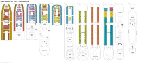 deck plan 5 majesty of the seas deck plans diagrams pictures