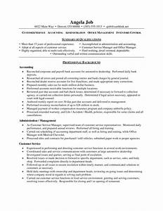 resume objective customer service 258 automotive assistant With customer service manager job description for resume