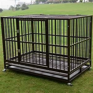 3xl 48quot dog crate kennel heavy duty pet cage playpen w for Dog cages and kennels