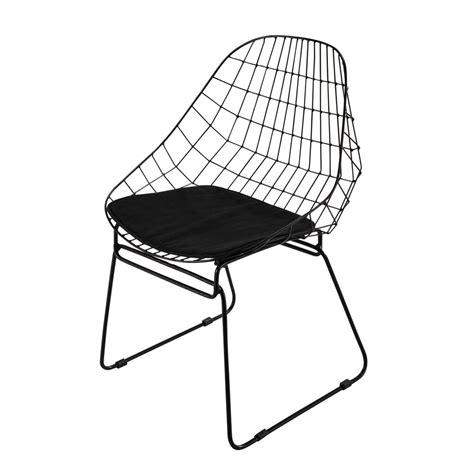 chaise metal maison du monde metal chair in black orsay maisons du monde
