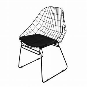 Chaise Design Metal : chaise en m tal noire orsay maisons du monde ~ Teatrodelosmanantiales.com Idées de Décoration