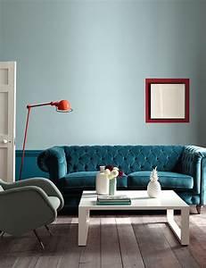Deco Pour Salon : comment utiliser la couleur bleu canard dans sa d co ~ Premium-room.com Idées de Décoration