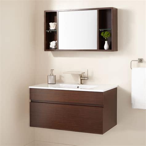 signature hardware  dimitri wenge wall mount vanity