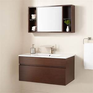 Signature Hardware 33quot Dimitri Wenge Wall Mount Vanity And