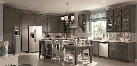 kraftmaid kitchen wall cabinets kraftmaid cabinets in new greyloft tone new products