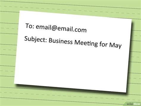 Eine E Mail Schreiben