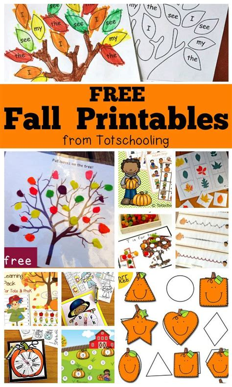 fall printables  kids fall preschool activities