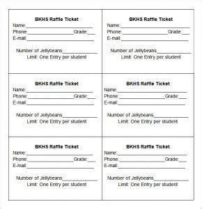 raffle ticket printing template free raffle ticket template template business