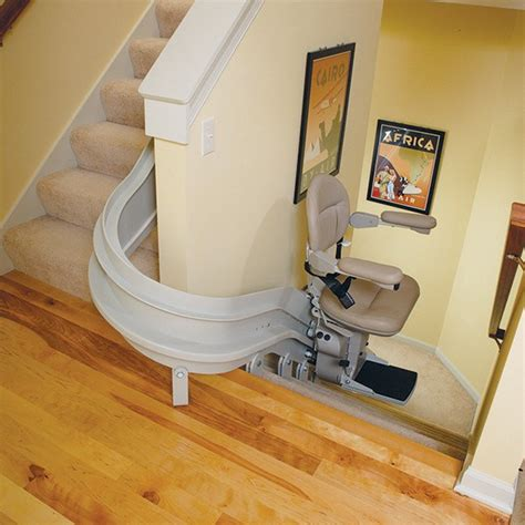 curved rail stairlifts bruno elite installed in nj pa
