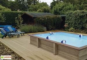 Dimension Piscine Hors Sol : piscine bois hors sol rectangulaire quartoo pls dimensions gardipool ~ Melissatoandfro.com Idées de Décoration