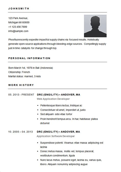 Free Simple Resume Templates by Resume Templates