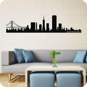 Wandtattoo San Francisco : wandtattoo skyline san francisco wandtattoo skylines ~ Whattoseeinmadrid.com Haus und Dekorationen