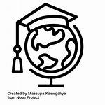 Study Icon Abroad Students Icons Education Current