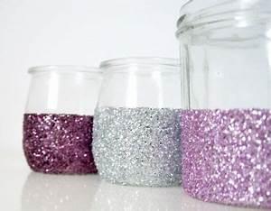 Pot En Verre Deco : pots en verre paillet s pour bougies de f te no l en ~ Melissatoandfro.com Idées de Décoration