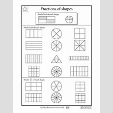 3rd Grade Math Worksheets Fractions Of Shapes, Part 2 Greatschools