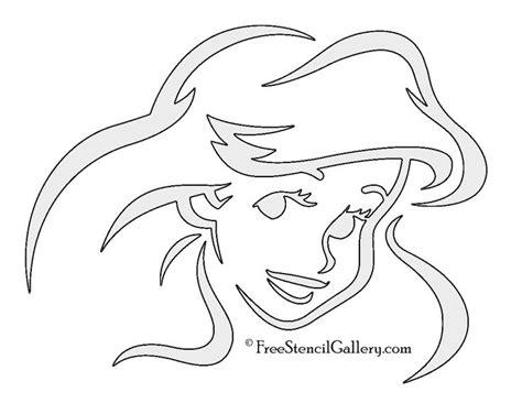 mermaid ariel stencil  disney stencils