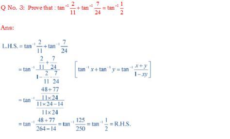 Prove That Tan1(211)+tan1(724)=tan1(12) Ncert