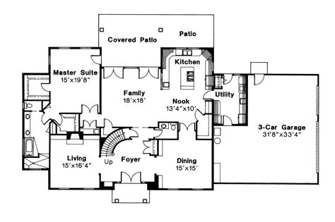 colonial floor plans colonial house plans kearney 30 062 associated designs