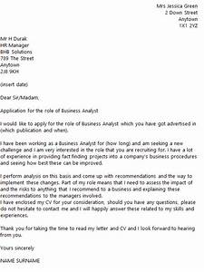 Business Analyst Cover Letter Example Icover Org Uk
