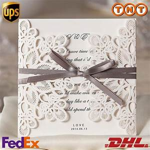 lace hollow folded laser cut wedding invitations blank With blank folded wedding invitations
