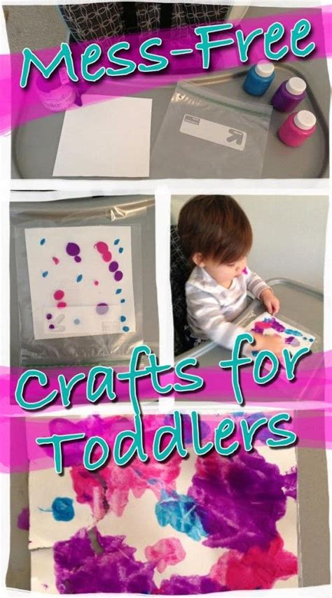 one year craft ideas mess free crafts for toddlers activity for one 6984