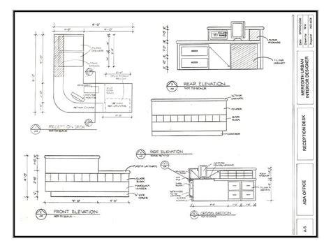 surface minimum bureau dimensions of a reception desk recherche