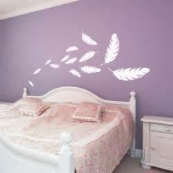 stickers muraux chambre adulte stickers envolée de plumes plumes chambres et stickers