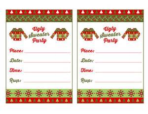free ugly sweater party printables from printabelle catch my party