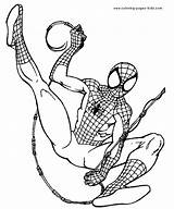 Coloring Pages Cartoon Spider Printable Sheets Spiderman Web Character Characters Slinging Found sketch template