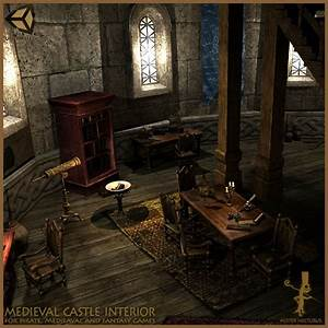 Medieval Castle Interior Game Level