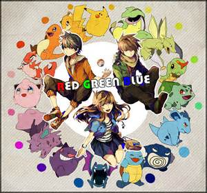 pokemon anime red and blue