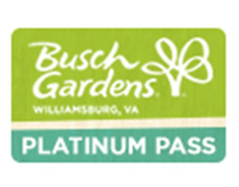 Busch Gardens Platinum Pass buy annual passes busch gardens williamsburg