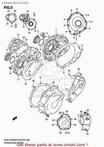 Suzuki Gsxr1000 2005  K5  Usa  E03  Crankcase Cover