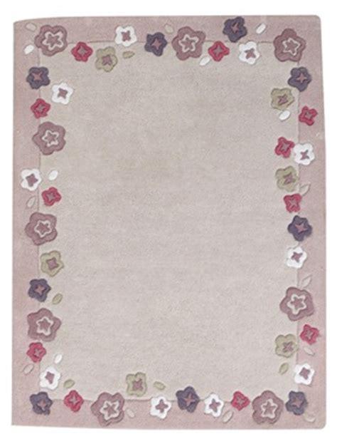 tapis fleurs fille theme jardin givre vertbaudet acheter