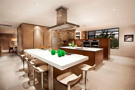 kitchen designs with islands and bars open kitchen designs