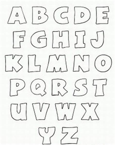 free printable alphabet stencils printable bubble