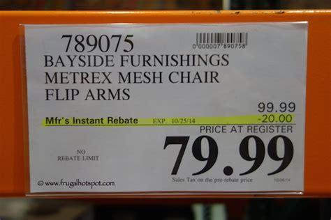 bayside furnishings metrex mesh chair costco price