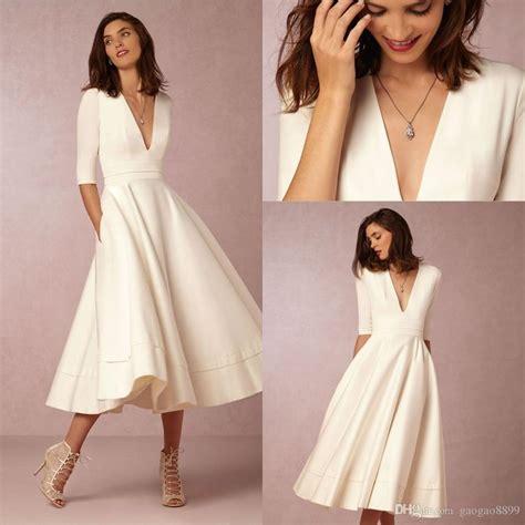 Discount 2016 Bhldn New Fashion Tea Length Vintage Wedding