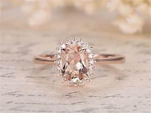 princess diana ring6x8mm oval vs pink morganite ring14k With princess diana wedding rings