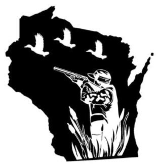 Wisconsin Boat Stickers by Wi Duck Decal Sticker