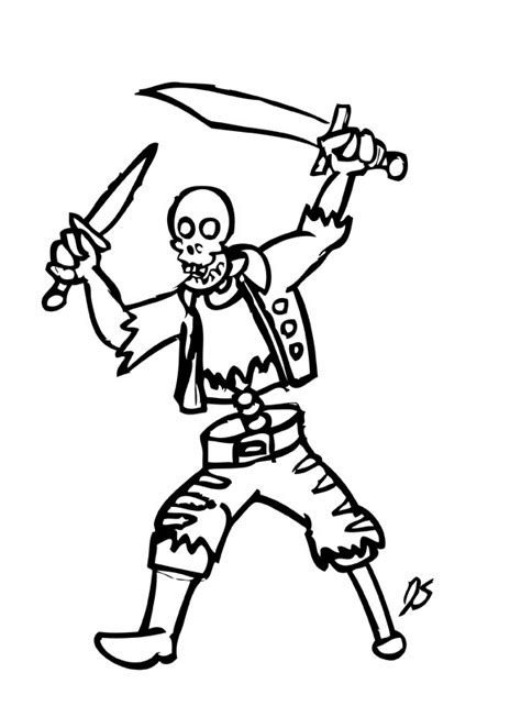 skeleton coloring pages    print